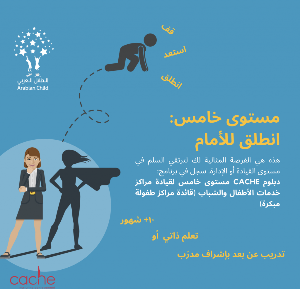 دبلوم CACHE مستوى خامس لقيادة مراكز خدمات الأطفال والشباب (قائدة مراكز طفولة مبكرة)